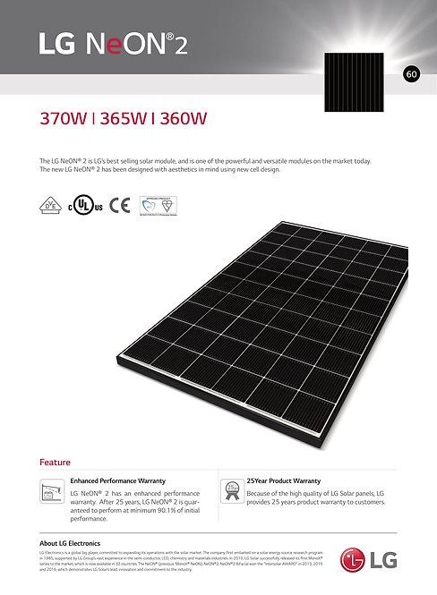 LG Neon 2 360 365 370W PV module (N5)