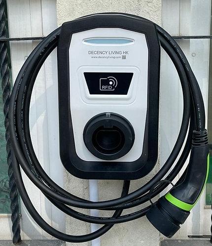 7KW EVSE RFID  actuated掛牆中速充電器拍卡啟動