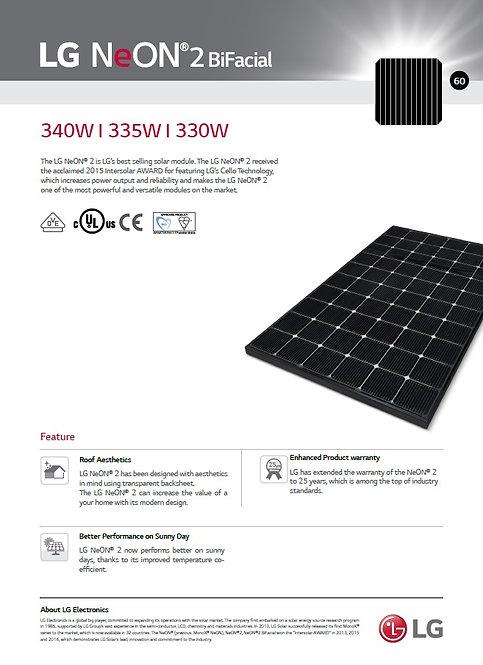 LG Neon 2 Bifacial 335/340W PV module
