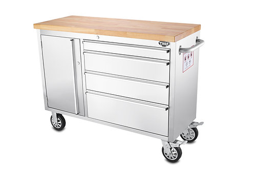 Stainless steel movable heavy duty storage chest Size Small 不銹鋼移動工作檯儲物箱 細碼