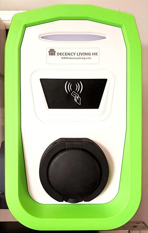 7KW EVSE RFID card actuated掛牆中速充電器拍卡啟動