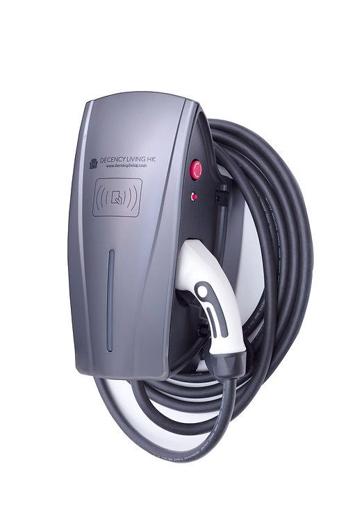 7KW EVSE tethered cable version 掛牆中速充電器Type 2 線款