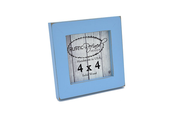 "4x4 1"" Gallery Picture Frame - Baby Blue"