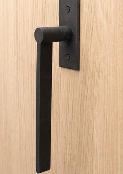 Azzari sliding door handle gun metal