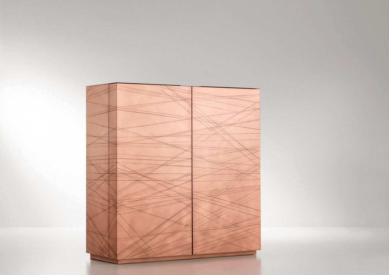 Graffio DeErosion H10 on copper - Design Paolo Benevelli