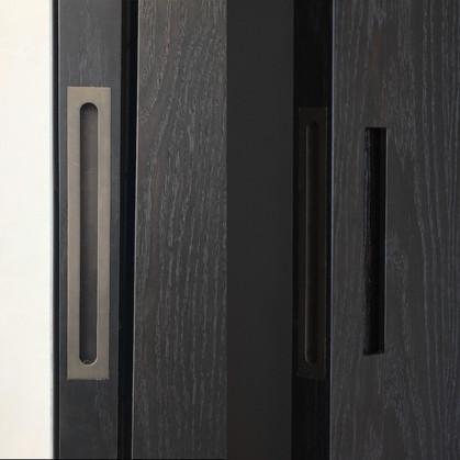 Slimline flush pull Vintage patina - Design Andy Kerstens