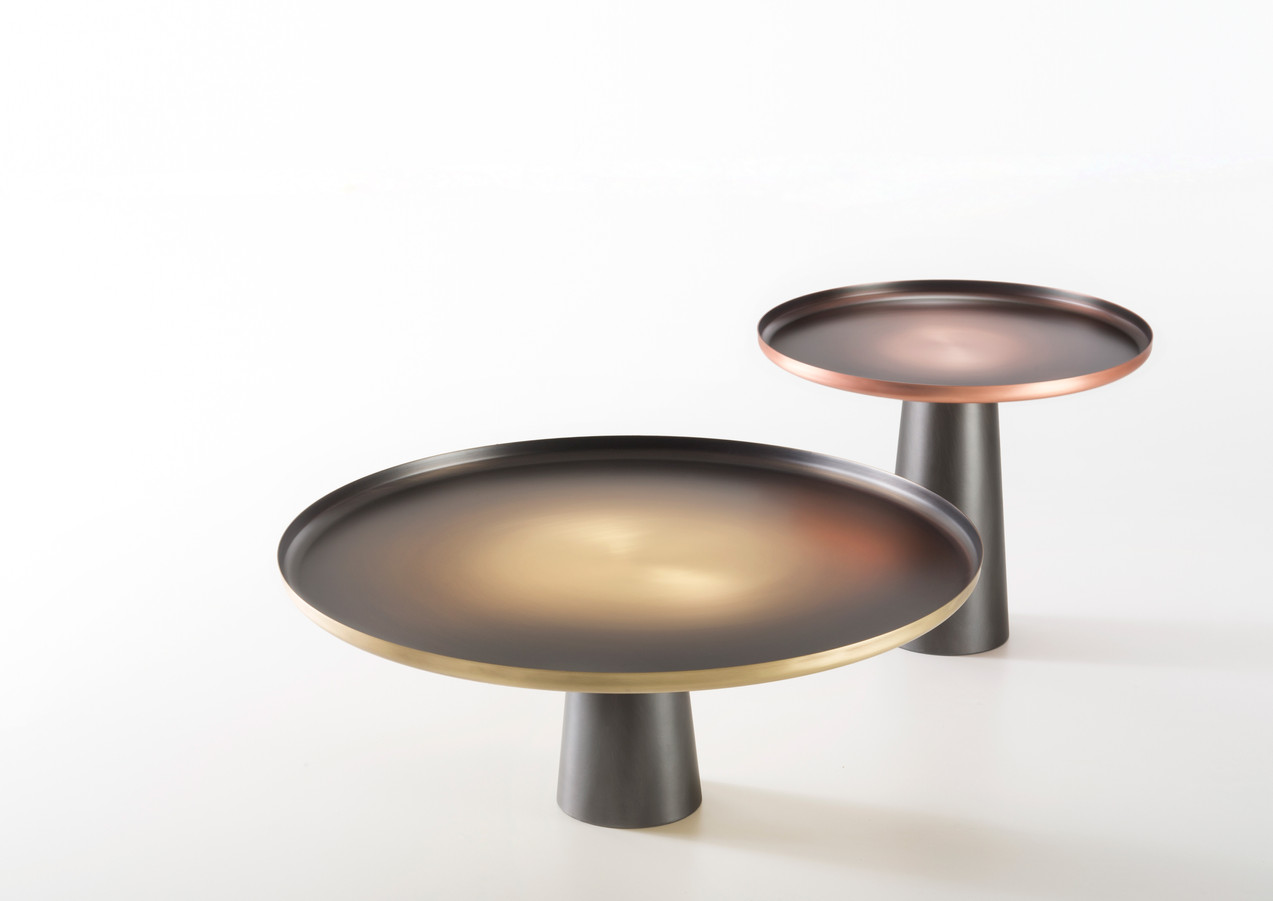 Sunrise & sunset Copper and Brass base is DeLabré Iron - Design Artefatto