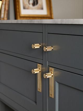 Combination furniture knobs Brass