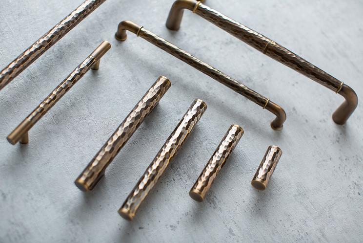 Solid hammered range Burnished brass