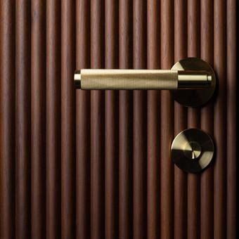 Door handle & thumbturn lock Brass
