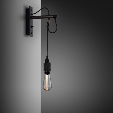 Hooked wall Graphite Smoked Bronze Crystal bulb