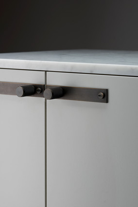 Furniture knob plate Smoked Bronze