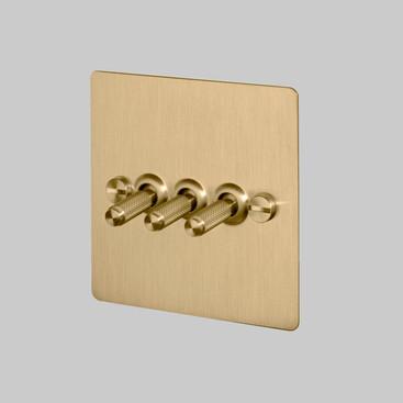 3G toggle switch Brass