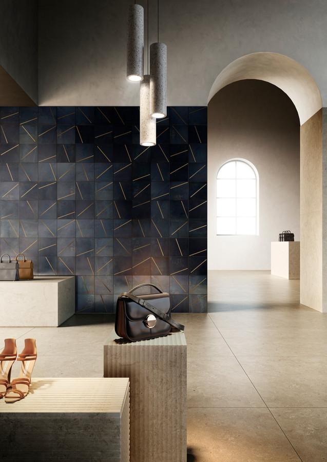 Yoko DeLabré natural black iron with brass inserts - Design Leonardo Sonnoli