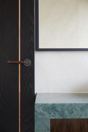 Woven leather handle