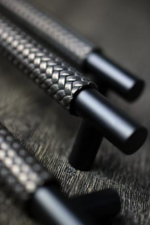 Woven Recess Amalfine Cabinet Handle Y3250 Silver bronze + matt black chrome