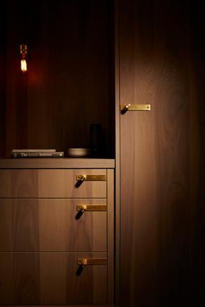 Furniture knob plate Brass