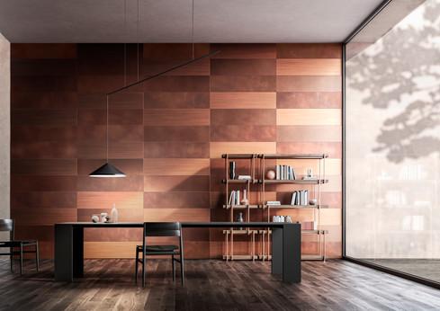 Forma 30x120cm Mixed DeLabré copper finishes - Design R&D De Castelli