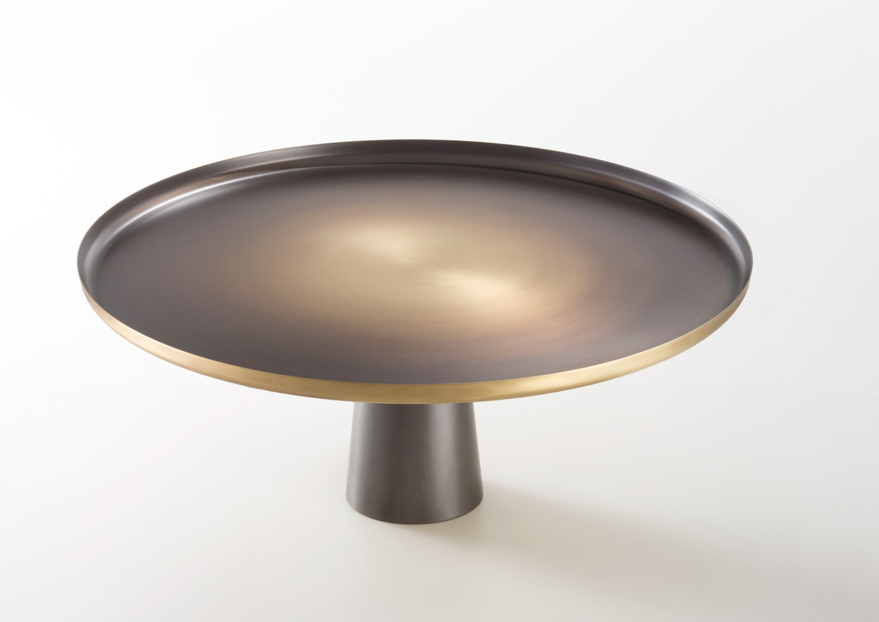 Sunrise & sunset Brass base is DeLabré Iron - Design Artefatto