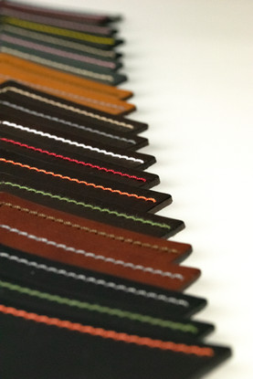 Custom leather stitching swatches