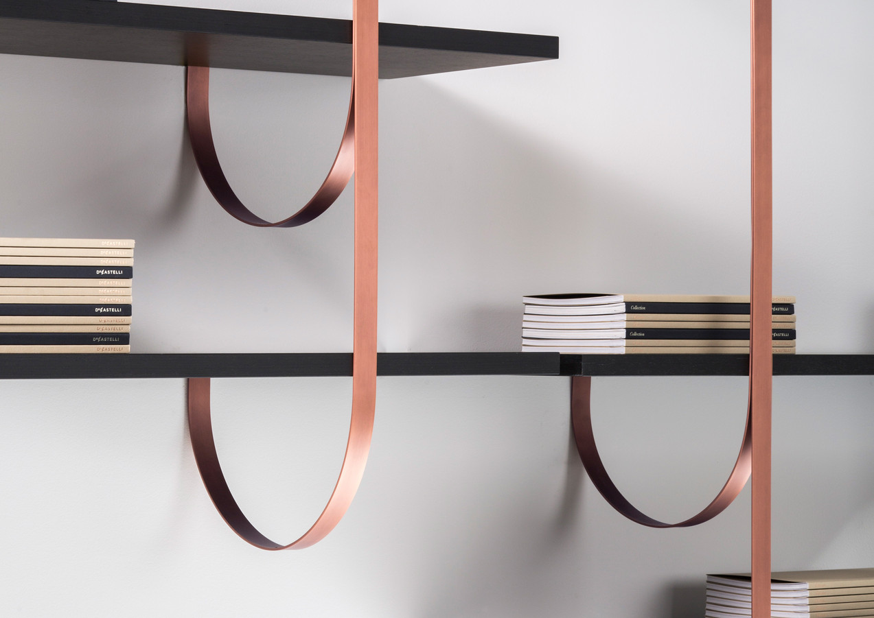 Talea bands: Orbitale DeLabré Copper shelves: Ebony Gabon - Design LucidiPevere