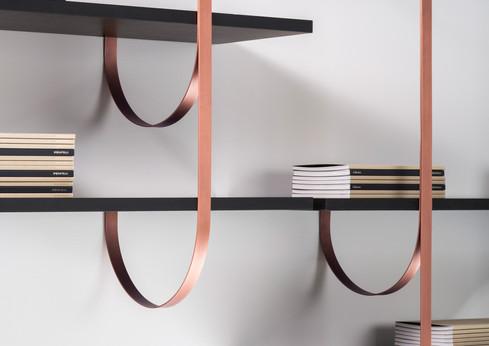 Talea bands: Orbitale DeLabré Copper shelves: Ebony Gabon - Design LucidiPevere