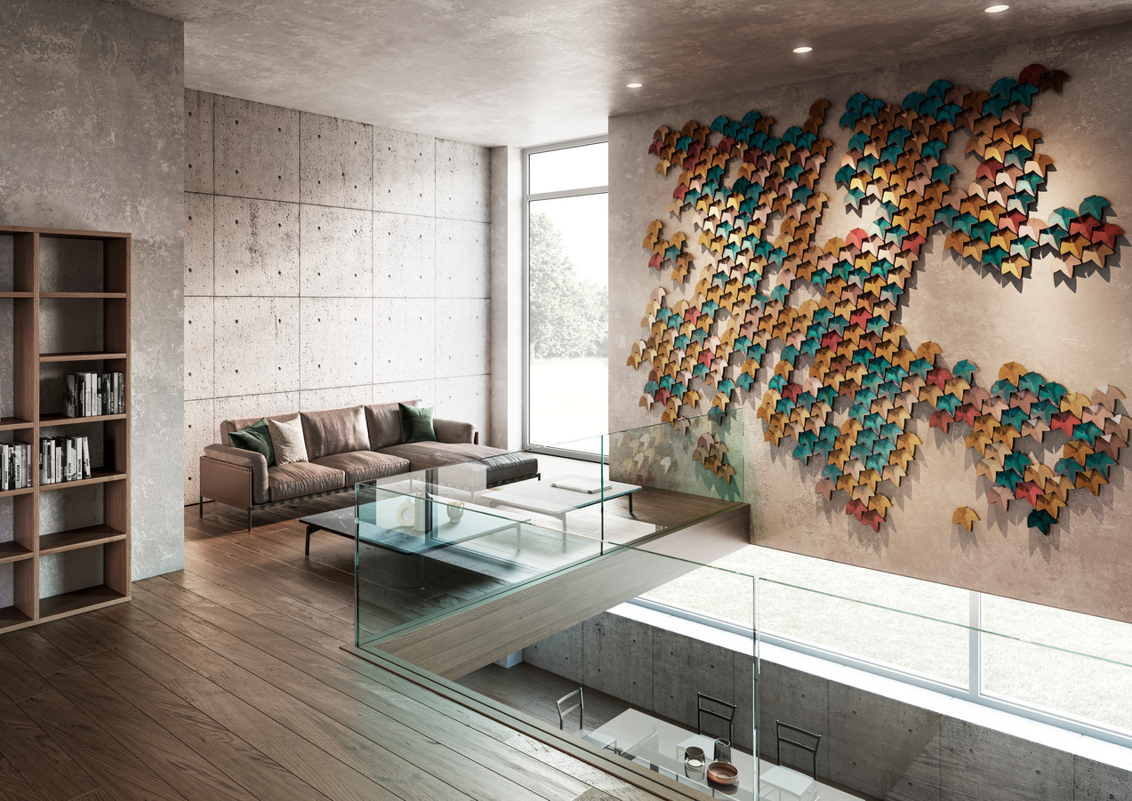 Veritical green standard finishes composition - Design R&D De Castelli