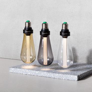 Bulbs Gold Smoked & Crystal