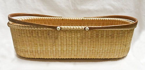 Craig Dorman, Nantucket French Bread basket, Cane & Cherry, 14inx6inx5in, $250