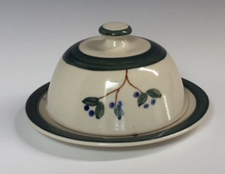 Shirley Odsather -Blueberry Butter Dish - Wheel Thrown Porcelain