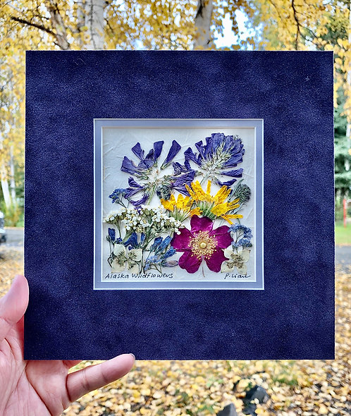 "Pauline Lian-""Alaska Wildflowers""- real pressed botanicals"