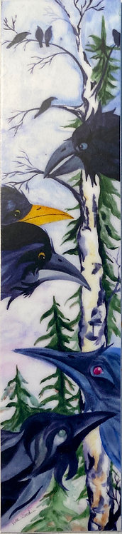 """Raven's Roost"" - 1in x 4in vinyl sticker"