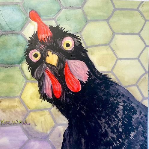"""""""Chicken Little"""" - 4in x 4in vinyl sticker"""