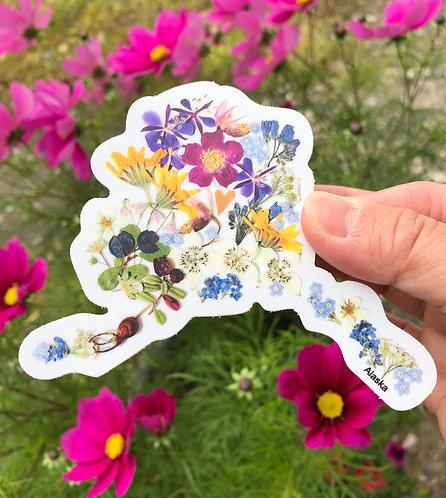 Pauline Lian - State of Alaska Botanical Sticker