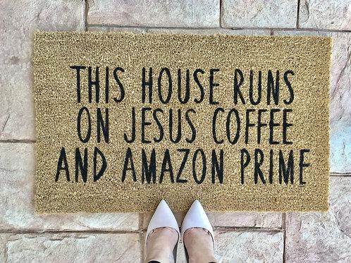 Jesus Coffee Amazon Doormat