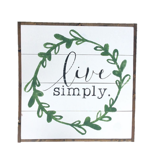 Live Simply Green Laurel