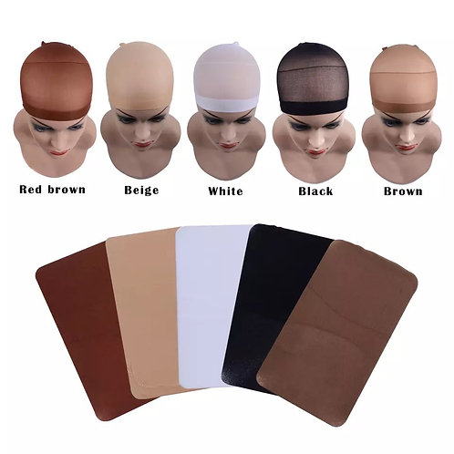 Stretchable Elastic Wig Cap - 2 Pcs Set