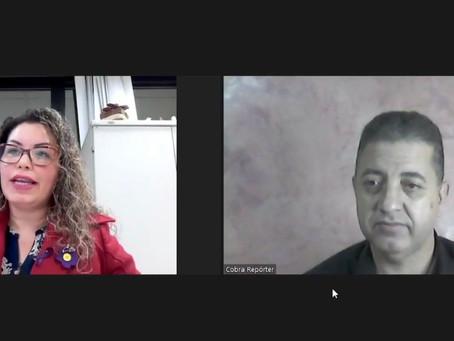 Presidente da Criai realiza live com a chefe do departamento da Política da Pessoa Idosa da Sejuf