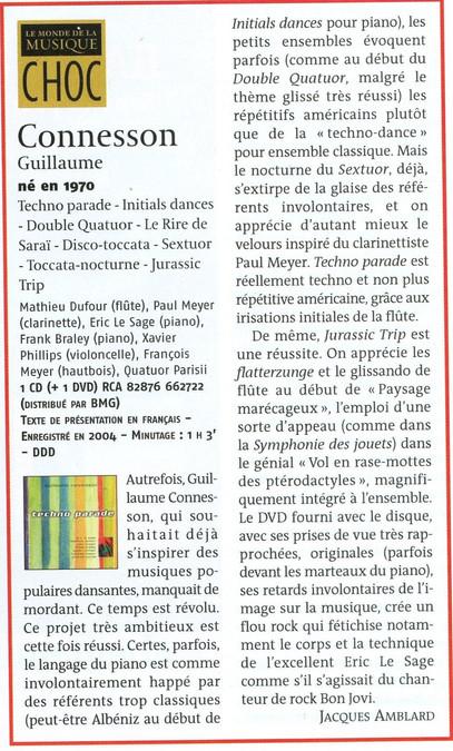 Le Monde de la Musique - mars 2005