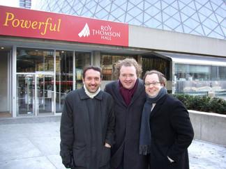 2006 - Toronto.  Olivier Latry, Stéphane Denève et Guillaume Connesson.