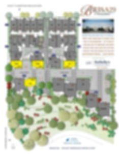 Brisa29 Townhome Plan 3 Site Plan
