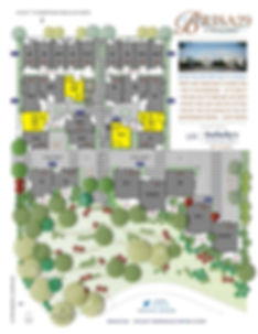 Brisa29 Townhome Plan 7 Site Plan