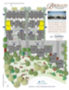 Brisa29 Townhome Plan 9 Site Plan