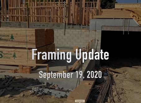 Brisa29 Framing Update (9/25/2020)