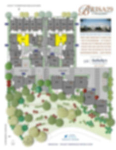 Brisa29 Townhome Plan 8 Site Plan