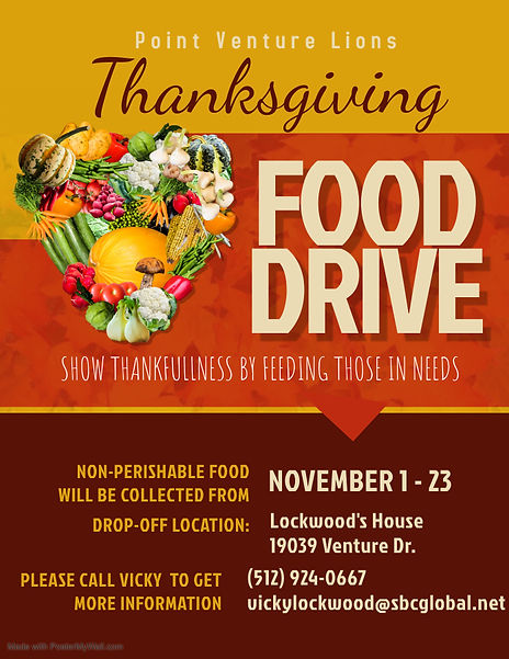 Copy of Thanksgiving Food Drive Flyer Te