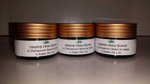 Healing Hemp Butter 3 Jars 1 oz. each