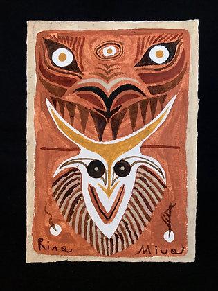 Dimonis rabiuts. Original painting