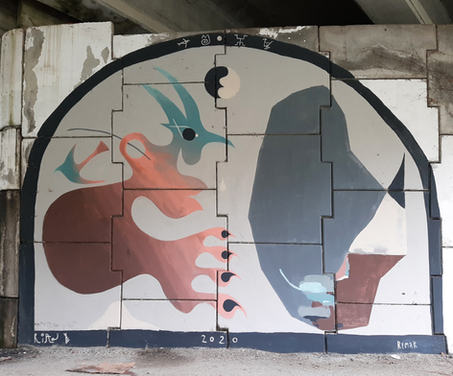 Mural collaboration with Mikel Remak