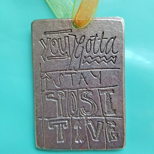 Pewter Ornament-Positive